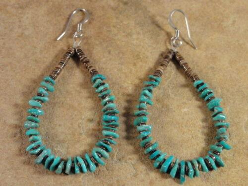 Santo Domingo Blue Turquoise & Heishi Earrings