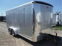 7 x 16 Enclosed Cargo Trailer - Radial Tires, LEDs - TAXES IN!