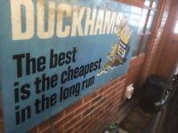 Rare Vintage Duckhams Garage Sign