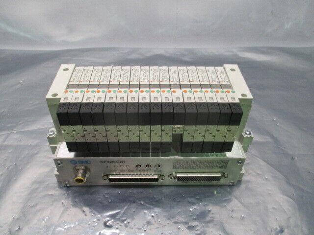 SMC VV5Q11-ULB990062, 16 Valve Pneumatic Manifold w/NP420-DN1, 100141