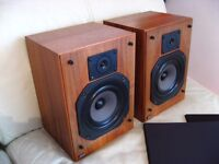 JPW SONATA BOOKSHELF SPEAKERS handmade with natural wood RARE
