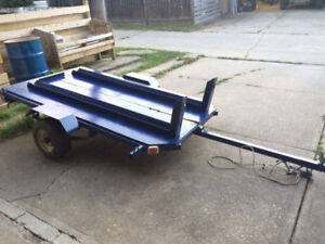 Dual Motorcycle Trailer with Stand