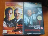 2 Misc. VHS Films, Frantic with Harrison Ford and Legends of The Fall Cert. 15