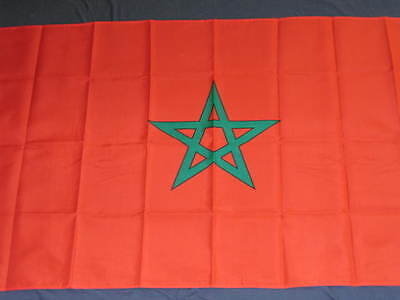 NEW 3X5 MOROCCO FLAG 3'X5' 3FT X 5FT MOROCCAN NEW F702