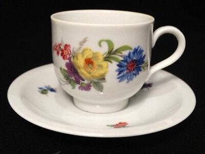 Floral Demitasse (Vintage Bereuther Waldsassen Floral Painted Demi-tasse Cup & Saucer)