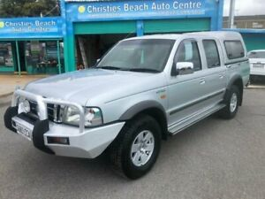 2003 Ford Courier PG XLT (4x4) Silver 5 Speed Manual Crew Cab Pickup Christies Beach Morphett Vale Area Preview
