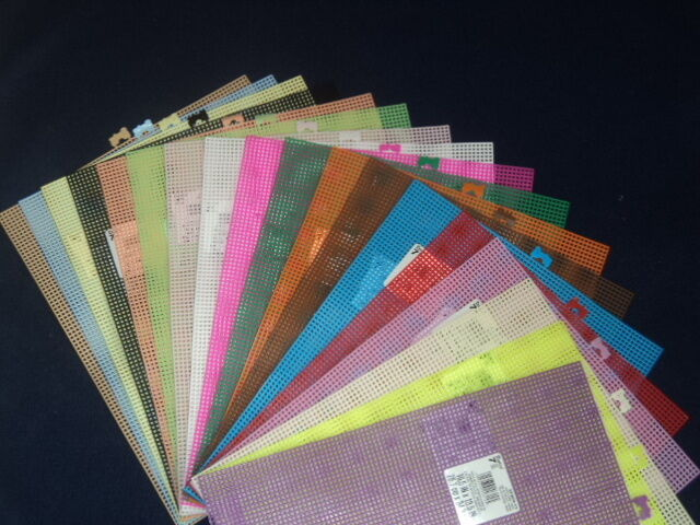 10.5 X 13.5 Darice PLASTIC CANVAS 18 Colors 7 Mesh YOU PICK COLORS