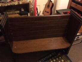 Lovely original wooden church pew - in good condition
