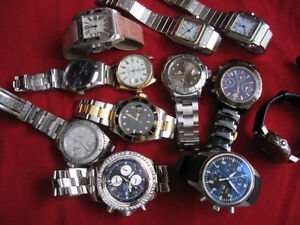 MANY REAL WATCHES...ROLEX, CARTIER, IWC, BREITLING, OMEGA