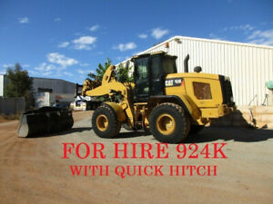 For Hire Cat 924 Loader With Quick Hitch. Located Pt Hedland Pickering Brook Kalamunda Area Preview