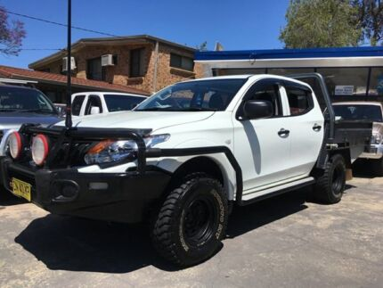 2017 Mitsubishi Triton MQ MY17 GLX (4x4) White 6 Speed Manual Dual Cab Chassis Sylvania Sutherland Area Preview