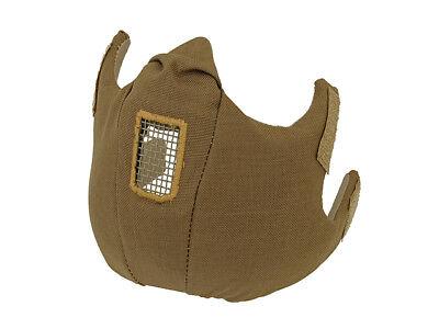 Paintball Airsoft taktische Halbgesichtsmaske Coyote Schutzmaske