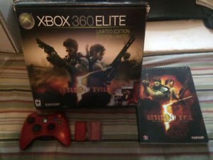XBOX 360 ELITE RESIDENT EVIL 5 LIMITED EDITION RED BUNDLE