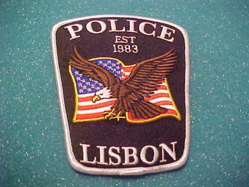 LISBON WISCONSIN POLICE PATCH SHOULDER SIZE UNUSED