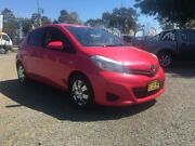 2013 Toyota Yaris NCP130R YR Pink 5 Speed Manual Hatchback Penrith Penrith Area Preview
