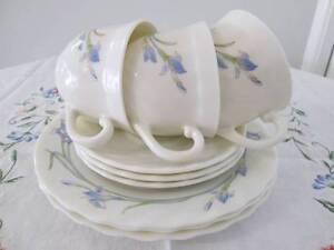 Retro Arcopal Trios For High Tea. Blue Iris Design. Morayfield Caboolture Area Preview