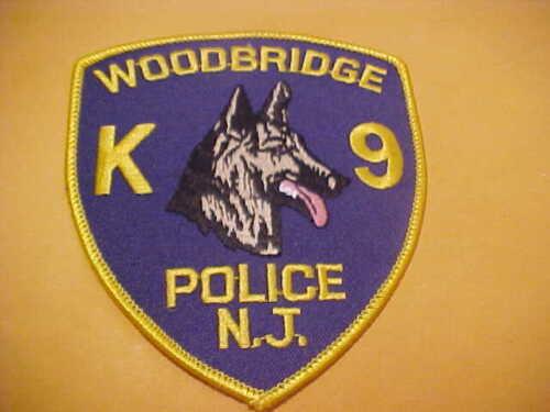 WOODBRIDGE NEW JERSEY K-9 POLICE PATCH SHOULDER SIZE UNUSED