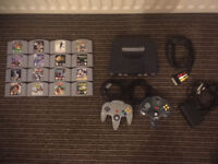 Nintendo 64 (PAL) Console with Two Controllers and 16 Games! All Tested! Moving Sale!