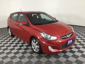 2014 Hyundai Accent GLS w/MOONROOF, HEATED SEATS, NEW TIRES AND