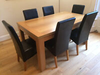 Beautiful Dining Table with Six Chairs