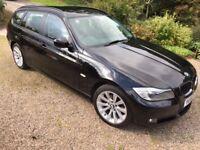 BMW 318d 2.0 SE Touring 5dr, F.S.H, 11 months MOT, 1 previous owner, Black Sapphire