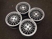 "Exip 15"" 4x100 7j alloy wheels. Deep dish. not borbet bbs, ats, lenso, hartge"