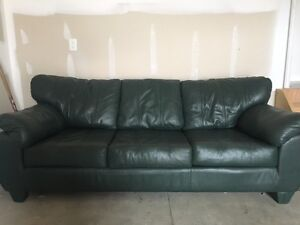 Green Leather Couch For Sale London Ontario image 1