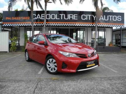 2013 Toyota Corolla ZRE182R Ascent S-CVT Red 7 Speed Constant Variable Hatchback Caboolture South Caboolture Area Preview