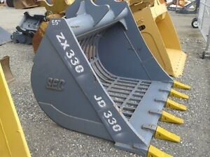 ZX330 SKELETON BUCKET. 65 INCH 6 TOOTH 250-573-5733