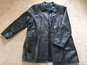 Gently used women's leather jacket