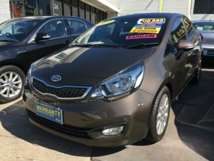 2012 Kia Rio UB MY12 SI Brown 6 Speed Sports Automatic Sedan
