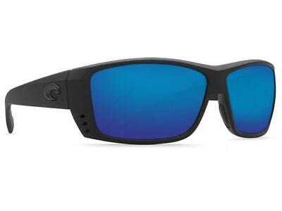 79090672a2b4 New Costa Del Mar Cat Cay Polarized Sunglasses 580P Blackout/Blue Mirror  Fishing