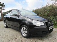 06 VW Polo 1.2 E 5 Door, Black Metallic, Only 82000 Miles,Full Service History, Immaculate Condition