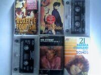 A-Z 2x ROXETTE, 2x SPICE GIRLS, ROD STEWART, BARBRA STREISAND PRERECORDED CASSETTE TAPES