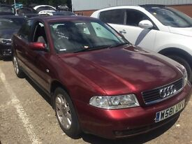 AUDI A4 1.8 SE SALOON PETROL MANUAL 5 SEATS MOT STARTS DRIVES RED ALLOYS NOT A3 A6 3 SERIES C CLASS