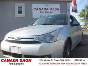 2011 Ford Focus, 103K, BLUETOOTH, AUTO, 12 M WRTY+SAFETY, $5990