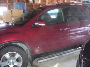 2009 GMC Acadia Red SUV, Crossover