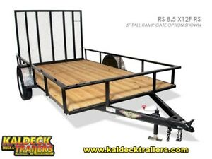 H&H Rail Side Utility Trailer