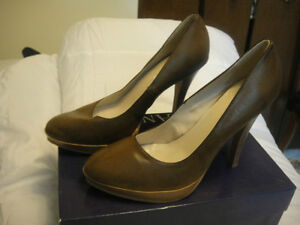 women's brown high heels