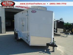 EXTRA HEIGHT HAULIN 7X14' CONSTRUCTION TRAILER
