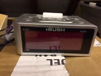 Bush Radio / Alarm Clock with ipod dock