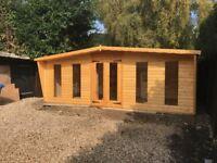 16x8 long window log cabin 22mm log t&g