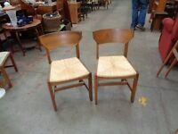 Rafia Worked Dining Chairs