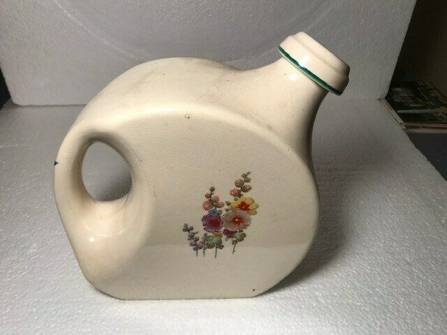 UNIVERSAL POTTERY [HOLLYHOCK ] WATER JUG/PITCHER WITH STOPPER VERY NICE!