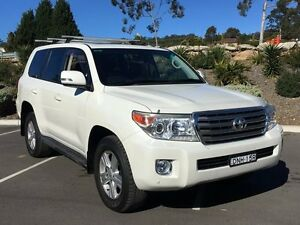 2013 Toyota Landcruiser VDJ200R MY13 VX White 6 Speed Sports Automatic Wagon Lisarow Gosford Area Preview