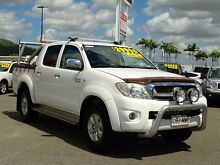 2010 Toyota Hilux GGN25R MY10 SR5 White 5 Speed Automatic Utility Garbutt Townsville City Preview