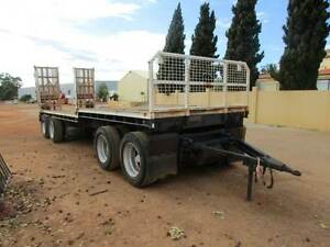 MACHINERY TRAILER/4 AXLE DOG TRAILER RAMPS Pickering Brook Kalamunda Area Preview