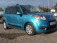 CITROEN C3 PICASSO EXCLUSIVE 1.6 HDI 5 DOOR BLUE I YEARS MOT SERVICED £30 ROAD TAX