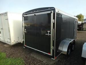 7x14 Black Enclosed Cargo Trailer with Ramp Kitchener / Waterloo Kitchener Area image 6