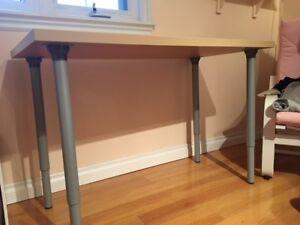 Ikea Office desk/table and chair - 2 feet x 4 feet